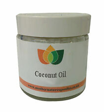 Coconut Oil - Pure, Raw, Virgin, Organic. Natural Fragrance. In Clear Glass Jar