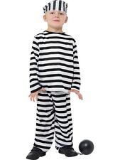 Boys Prisoner Costume Convict Cops & Robbers Childrens Kids World Book Day Jail