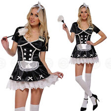 ★SEXY FRENCH MAID★ WOMENS FANCY DRESS OUTFIT / COSTUME WAITRESS SERVANT LADIES