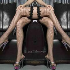 New Fishnet Thigh High Stockings, Black, Red, White, Lavender, Lace Trim Top 916