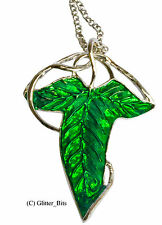 Elven Leaf Brooch Necklace Chain Pendant Hobbit LOTR Lord Of The Rings Charm