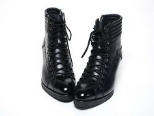 Mens Leather Lace-Up SIDE Zip Ankle Boots PREMIUM  BLACK (M 214)_STORE IN KOREA