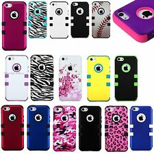 Apple iPhone 5C/ Lite Hybrid Hard Armor Impact Case Silicone Phone Cover Tuff Ma