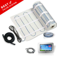 ELECTRIC UNDERFLOOR HEATING MAT Under Floor or Tile 150W + Thermostat All Sizes
