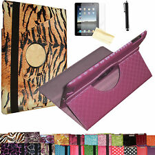 "kindle fire HD 7 7"" 360° Rotating PU Leather Stand Cover Case FREE Protector Pen"