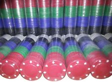 FULL SIZE POKER ROULETTE CASINO CHIPS - SUITED DESIGNS IN 5 COLOURS