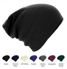 MENS WOMENS KNITTED WOOLLY WINTER OVERSIZED SLOUCH BEANIE HAT CAP - BRAND NEW