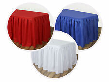 """14 feet x 29"""" Polyester Banquet Table Skirt with velcro on top - 168"""" x 29"""""""