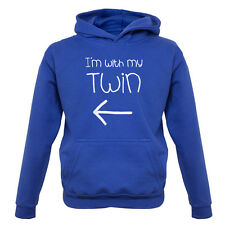 I'm With My Twin ( Left) - Kids / Childrens Hoodie - Twins - Identical