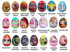 £1 EACH CHARACTER SURPRISE EGGS CARS HELLO KITTY MONSTERS UNI SPIDERMAN MINNIE