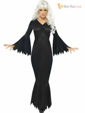 Size 8-22 Ladies Vampire Witch Fancy Dress Costume Long Womens Halloween Outfit