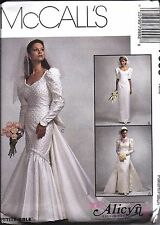 UNCUT Vintage McCalls Sewing Pattern Misses Bridal Gown Wedding Dress 7999 OOP