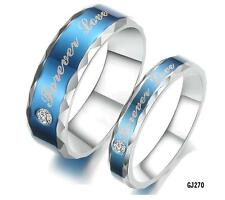 A pair Couple RingsTitanium Stainless Steel Wedding bands Forever Love Set Gifts