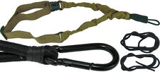 IDF One 1-Point Quick Release Bungee Tactical Gun Strap Rifle Sling Hook - Tan