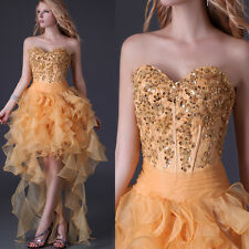 Strapless Tulle High-Low Homecoming Party Gown Prom Ball Evening Cocktail Dress
