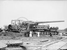 1919 INDIAN HEAD MD PROVING GROUND RAIL GUN ARTILLERY PHOTO Largest Size