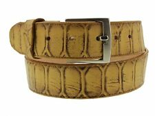 Embossed leather anaconda snake belt silver buckle boots western rodeo cowboy