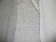 GRAYS AND HEATHERS 1x1 rib knit 100% quality cotton fabric Lands End LLBean WIDE