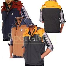 Crosshatch Laptons Quilted Padded Detachable Hooded Gilet Jacket Mens Size