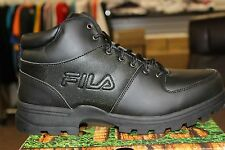 FILA Outdoor Men's Ascender Hiking Boots Black Black Brand New in Box