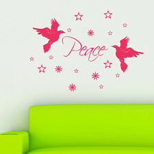 Christmas Wall Sticker Doves Decoration Stars Shop Window Vinyl Decal Transfer