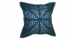A Patch work Indian pillow cover- Blue.