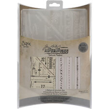 New Sizzix Texture Fades Embossing Folders Designed by Tim Holtz