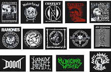 PUNK FAUX LEATHER PATCHES jacket anti cimex chaos uk ramones exploited doom gbh