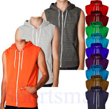 Mens Raiken Apparel Sleeveless Hooded Top Gilet Hoodie Mens Size