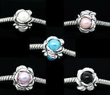 Wholesale Lots Mixed Pearl Imitation Screw Stopper Beads Fit Charm Bracelet