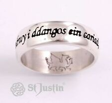 St Justin - Welsh Love Ring - Sterling Silver (Sterling Silver)
