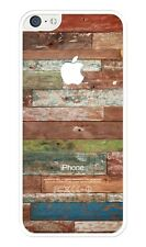 Painted Old Wood Coloful Pattern Rubber iPhone 5C case. Protective Cover Case