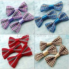 100 Grosgrain Tartan Ribbon Bow Scrapbooking DIY Hair Clip