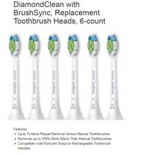 PHILIPS SONICARE TOOTHBRUSH DIAMOND CLEAN 6 PACK REPLACEMENT BRUSH HEADS