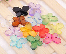 100Pcs/50Pcs mixed acrylic Butterfly Interval beads finding 14x17mm,22x30mm