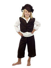 Victorian Poor Boy Orphan Oliver Twist Fancy Dress Costume Kids Child Age 4 - 12