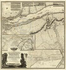1815 HISTORICAL WALL MAP QUEBEC MONTREAL CANADA EASTERN US Largest Sizes