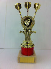 Tri Darts Trophy,Award,Marble Base,7 Colours,3 Sizes,FREE Engraving