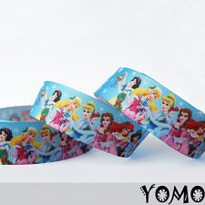 "1""25mm Disney Princess Printed Grosgrain Ribbon 10/50 Yards Hairbow Wholesale"