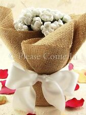 6 Burlap Vase Wraps Mason Jar Centerpiece Rustic Country Wedding Decoration
