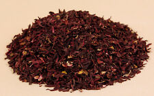 Dried Cut Organically Grown Red Hibiscus Flowers  1 - 8 oz