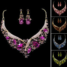Designer Formal Party Bridal Jewelry Crystal Rhinestone Earrings Necklace Sets