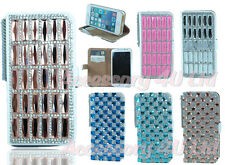 NEW Luxury Bling Diamonds PU Leather Wallet Case Cover For Apple Iphone 4S/5S/5C