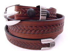 American Made Tapered Dress casual Leather Belt Brown