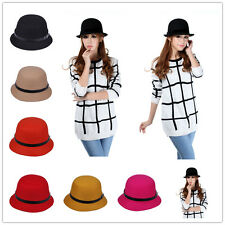 1x New Winter Warm Lady Women's Mens' Fedora Trilby Bucket Style Wool  Hat Cap