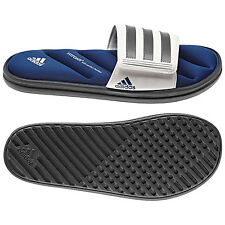 Men Adidas Sandal Zeitfrei Slide Q23118 Gray White Blue 100% Authentic Brand New
