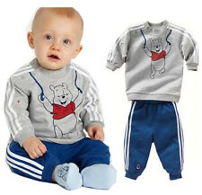 Baby Boy's/Girl's Winnie the Pooh Bear Children's Track Suit Sports Outfit Set
