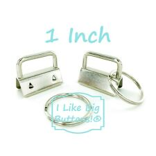 1 inch - SILVER - Key Fob Hardware/Rings - YOU CHOOSE QUANTITY - Wristlet/Chains
