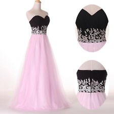 Princess Bridesmaid Wedding Formal Evening Party Prom Bride Ball Gown Long Dress