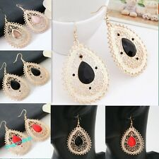 Hot Simple Elegant Classical Womens Hollow-out Waterdrop Charm Earrings 4 Colors